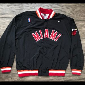 6908af0d Nike Jackets & Coats - Vintage Nike NBA Miami Heat Warmup Jacket Men's L